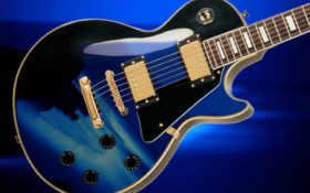 гитара, blue, гибсон