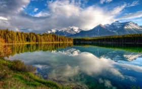 отражение, горы Фон № 24906 разрешение 1920x1080