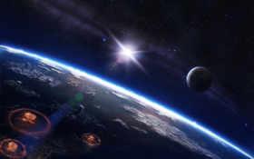 космос, война Фон № 17445 разрешение 1920x1200