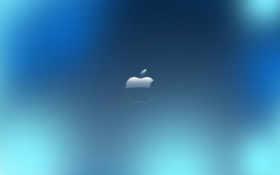blue, небо, apple