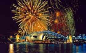 sydney, fireworks Фон № 8240 разрешение 1920x1200