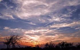 небо, облаками