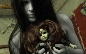 девушка, ghost, creepy