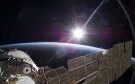 солнце, земля Фон № 24555 разрешение 2560x1600