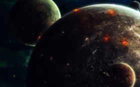 планеты, спутники, спутник