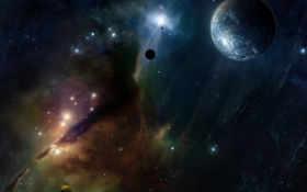 туманность, звезды Фон № 8785 разрешение 1920x1080