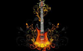 гитара в цветах