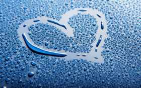 сердце нарисованное на каплях-2