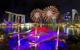салют, fireworks, ночь