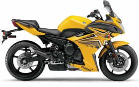 yamaha, мотоцикл, yellow