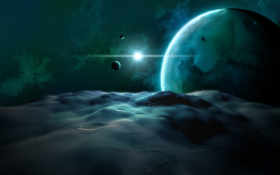 planet, cosmos, landscape