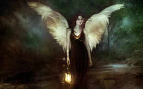 angel, fantasy Фон № 12232 разрешение 1920x1200