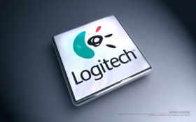 logitech лого прямоугольное