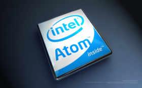 intel Atom inside лого объёмное