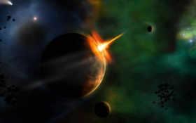 space, звезды Фон № 12279 разрешение 1920x1200