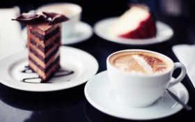 coffee, торт, еда