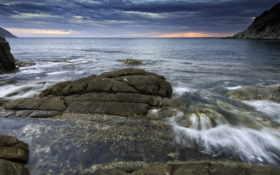 пейзажи -, море, закат