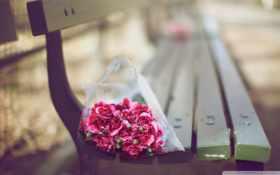 букет цветов в фокусе