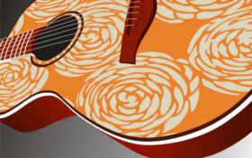 гитара, музыка, струны Фон № 50125 разрешение 1920x1200