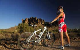 bike, девушка