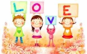 children, love, cute