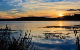 солнце, закат Фон № 15636 разрешение 1920x1200