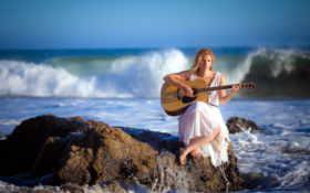 музыка, гитара Фон № 25836 разрешение 2560x1600
