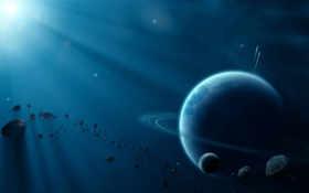 космос, планеты Фон № 24084 разрешение 2560x1600