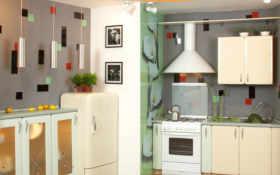кухне, потолок, кухню