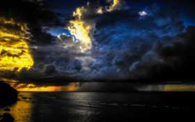 storm, sky
