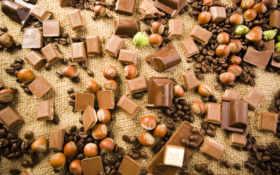 шоколад, орехи Фон № 8448 разрешение 1920x1080
