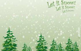 snow, christmas