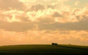 небо, трактор Фон № 9126 разрешение 1920x1200