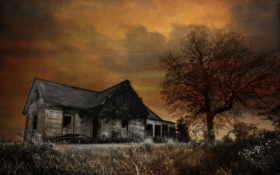 дом, ночь Фон № 8769 разрешение 2560x1600