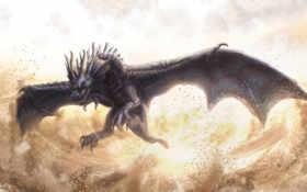 дракон, полет Фон № 22855 разрешение 1680x1050