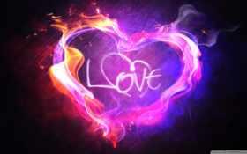 пламенное сердце с признанием внутри