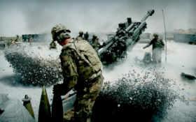 артиллерия, солдаты