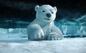 графика, зима, животные