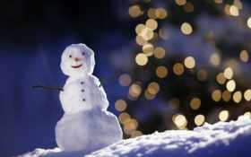 снеговик, зима Фон № 6743 разрешение 1920x1200