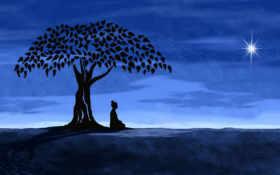 buddha, медитация, живопись