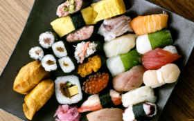 суши, блюдо, пища