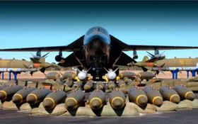 самолёт, бомбардировщик, бомбы