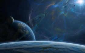 звезда, планеты Фон № 24351 разрешение 1920x1080