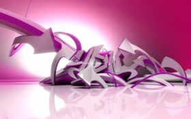 граффити, фиолетовые