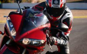 мотоциклы, мотоциклист, yamaha