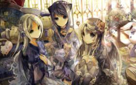 anime, girls Фон № 7404 разрешение 1920x1080