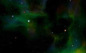 зелёный, телескоп
