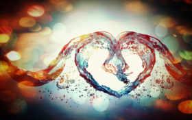 water, сердце, love