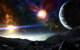 planets, space Фон № 24562 разрешение 2560x1600
