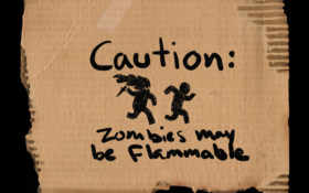 zombies, caution